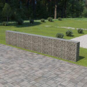 Muro gabião com tampas aço galvanizado 600x30x100 cm - PORTES GRÁTIS