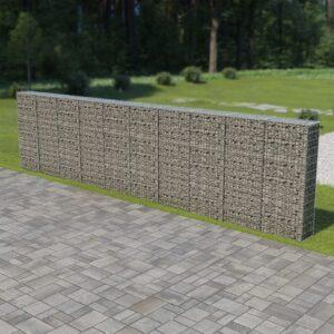 Muro gabião com tampas aço galvanizado 600x30x150 cm - PORTES GRÁTIS