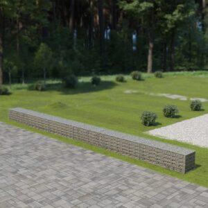 Muro gabião com tampas aço galvanizado 900x50x50 cm - PORTES GRÁTIS