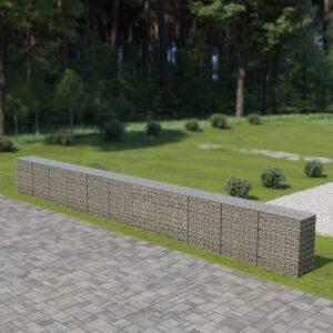 Muro gabião com tampas aço galvanizado 900x50x100 cm - PORTES GRÁTIS
