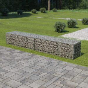 Muro gabião com tampas aço galvanizado 300x50x50 cm - PORTES GRÁTIS