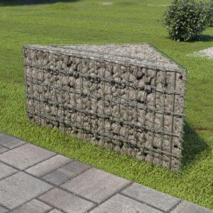 Gabião para plantas em aço galvanizado 75x75x50 cm - PORTES GRÁTIS