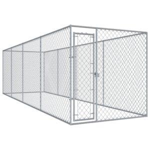 Canil de exterior 7,6x1,9x2 m - PORTES GRÁTIS