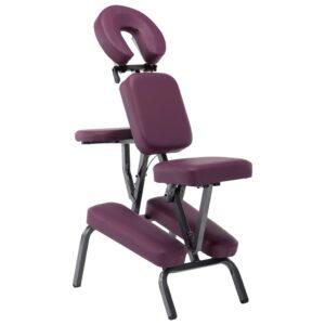 Cadeira de massagens couro artificial 122x81x48 cm bordô - PORTES GRÁTIS