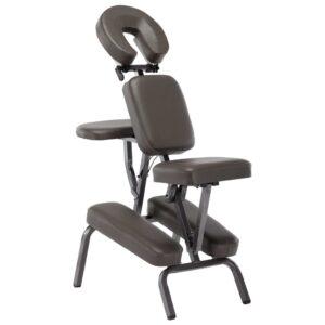 Cadeira de massagens couro artificial 122x81x48 cm antracite - PORTES GRÁTIS