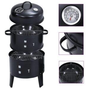 Churrasqueira/defumador a carvão 3 em 1 40x80 cm - PORTES GRÁTIS