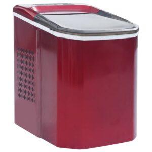 Máquina de fazer cubos de gelo 1,4 L 15 kg/24 h vermelho - PORTES GRÁTIS