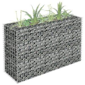 Gabião para plantas em aço galvanizado 90x30x60 cm - PORTES GRÁTIS