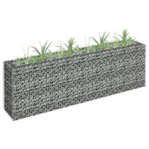Gabião para plantas em aço galvanizado 180x30x60 cm - PORTES GRÁTIS