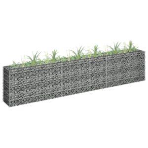 Gabião para plantas em aço galvanizado 270x30x60 cm - PORTES GRÁTIS