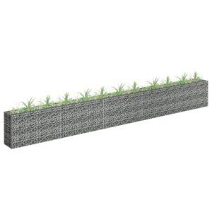 Gabião para plantas em aço galvanizado 450x30x60 cm - PORTES GRÁTIS