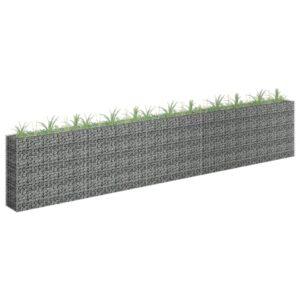 Gabião para plantas em aço galvanizado 450x30x90 cm - PORTES GRÁTIS