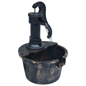 Fonte de água para jardim aspeto barrica com bomba - PORTES GRÁTIS