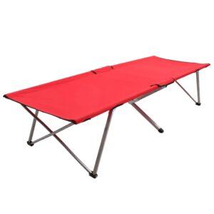 Cama de campismo 206x75x45 cm XXL vermelho - PORTES GRÁTIS