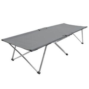 Cama de campismo 206x75x45 cm XXL cinzento - PORTES GRÁTIS