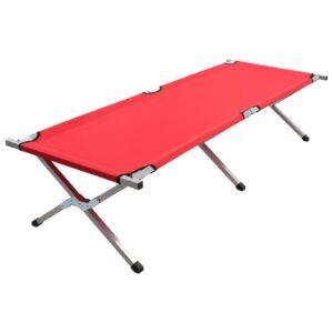 Cama de campismo 190x74x47 cm XL vermelho - PORTES GRÁTIS