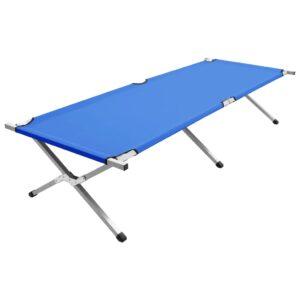 Cama de campismo 210x80x48 cm XXL azul - PORTES GRÁTIS