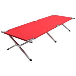 Cama de campismo 210x80x48 cm XXL vermelho - PORTES GRÁTIS