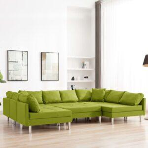 Sofá seccional tecido verde - PORTES GRÁTIS