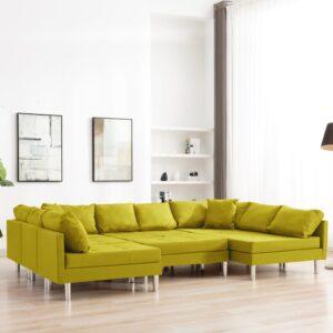 Sofá seccional tecido amarelo - PORTES GRÁTIS