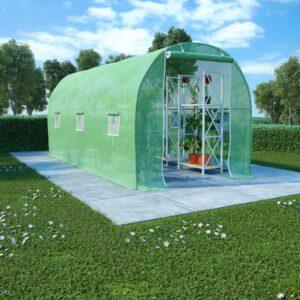 Estufa com fundação em aço 9 m² 4,5x2x2 m - PORTES GRÁTIS