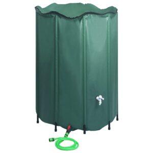 Depósito para água da chuva dobrável com torneira 1500 L - PORTES GRÁTIS
