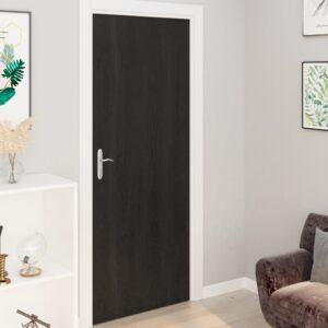 Autocolante para porta 2 pcs 210x90 cm PVC cor madeira escura - PORTES GRÁTIS