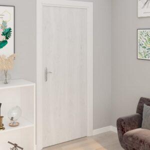 Autocolante para porta 2 pcs 210x90 cm PVC cor madeira branca - PORTES GRÁTIS