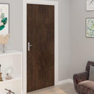 Autocolante para porta 2 pcs 210x90 cm PVC cor carvalho escuro - PORTES GRÁTIS