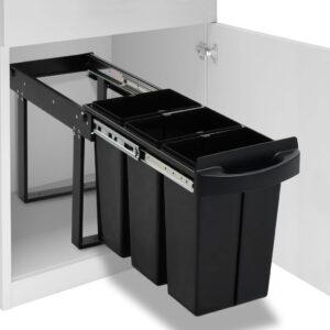 Balde do lixo de encastre no armário cozinha fecho suave 36 L - PORTES GRÁTIS