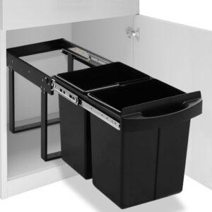 Balde do lixo de encastre no armário cozinha fecho suave 48 L - PORTES GRÁTIS