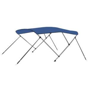 Toldo em 3 arcos Bimini 183x160x140 cm azul - PORTES GRÁTIS