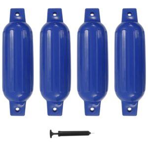 Defensas de barco 4 pcs 41x11,5 cm PVC azul - PORTES GRÁTIS