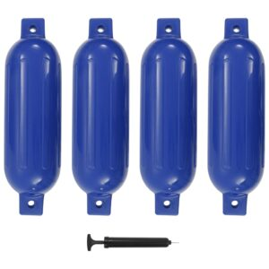 Defensas de barco 4 pcs 51x14 cm PVC azul - PORTES GRÁTIS