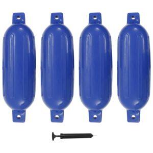 Defensas de barco 4 pcs 58,5x16,5 cm PVC azul - PORTES GRÁTIS