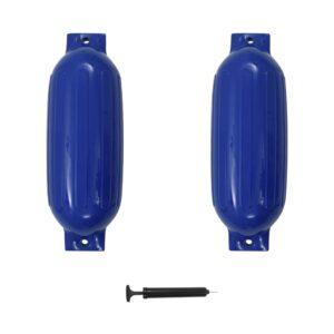 Defensas de barco 2 pcs 69x21,5 cm PVC azul - PORTES GRÁTIS