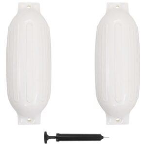 Defensas de barco 2 pcs 69x21,5 cm PVC branco - PORTES GRÁTIS