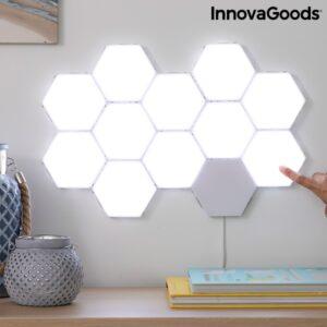 NOVIDADE Conjunto de 3 Painéis LED Modulares Magnéticos e Táteis - VEJA O VIDEO