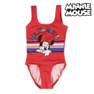 Fato de Banho de Menina Minnie Mouse Vermelho 5 anos