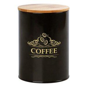 Lata de Metal Coffee 111248 Preto