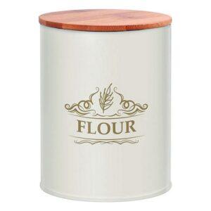 Lata de Metal Flour 110883 Branco