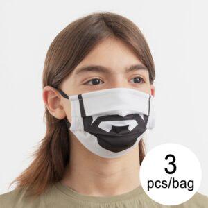 3 Máscaras Higiénicas em Tecido Reutilizável Beard Luanvi | Tamanho M