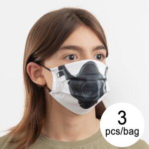 3 Máscaras Higiénicas em Tecido Reutilizável Tongue Luanvi | Tamanho M