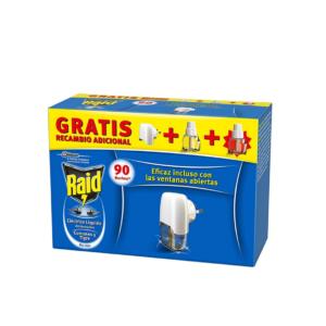 Pack 1 Quarto - Anti-mosquitos Elétrico Raid - 1 Difusor + 2 Recargas