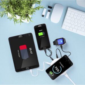 Carregador sem Fios Qi com Portas USB 3100 mAh 145955 Branco
