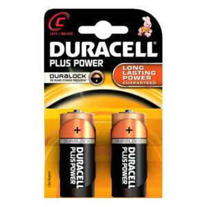 Pilhas Alcalinas Plus Power DURACELL LR14/MN1400 (2 pcs)