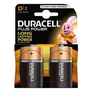 Pilhas Alcalinas Plus Power DURACELL LR20/MN1300 (2 pcs)