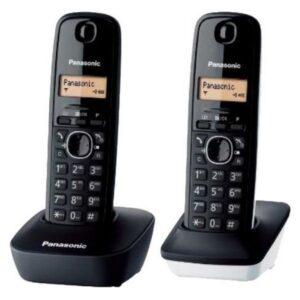 Telefone sem fios Panasonic KX-TG1612SP1 Preto Branco (2 pcs)