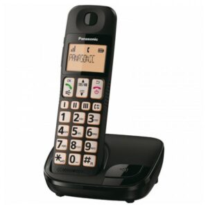 Telefone sem fios Panasonic KX-TGE310SPB Preto