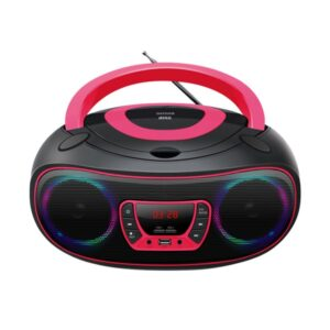 Rádio CD MP3 Denver Electronics TCL-212 Bluetooth LED LCD Cor de Rosa